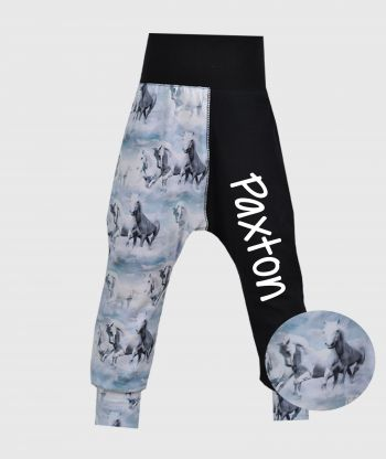 Cosy Pants Horses Black