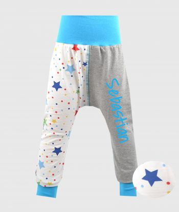 Cosy Pants Multistars Grey/Blue