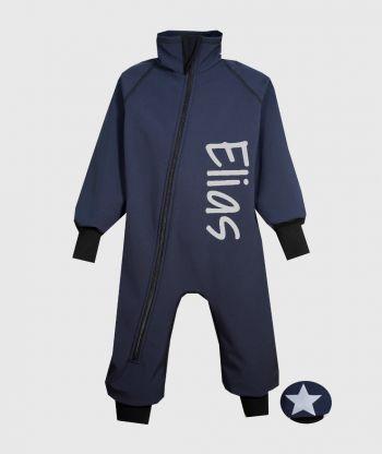 Waterproof Softshell Overall Comfy Ultramarine Bodysuit
