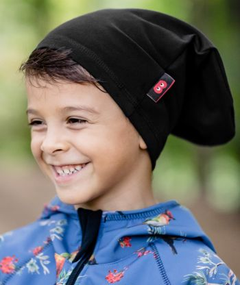 Oversize Baggy Hat Reflex Black