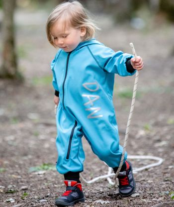 Waterproof Softshell Overall Comfy Ice Blue Jumpsuit