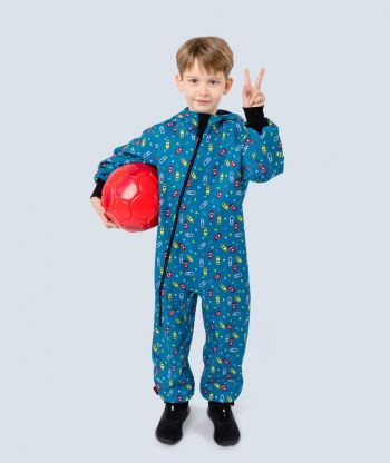 Waterproof Softshell Overall Comfy Racing Cars Jumpsuit