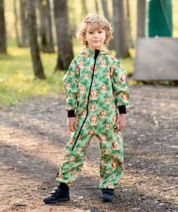 Waterproof Softshell Overall Comfy Lions Jumpsuit