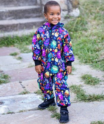 Waterproof Softshell Overall Comfy Space World Jumpsuit