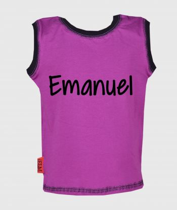 Sleeveless T-shirt Purple