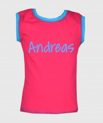 Sleeveless T-shirt Lushes Pink/Blue
