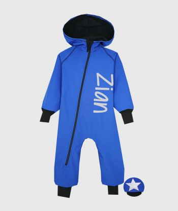 Waterproof Softshell Overall Comfy Blue Jumpsuit