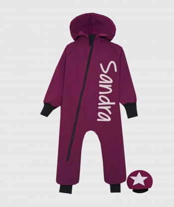 Waterproof Softshell Overall Comfy Burgundy Jumpsuit