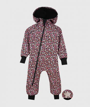 Waterproof Softshell Overall Comfy Hearts Jumpsuit