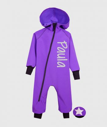 Waterproof Softshell Overall Comfy Intense Purple Jumpsuit