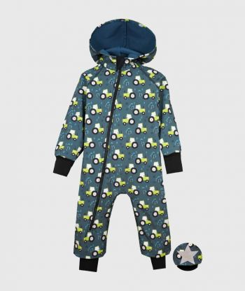 Waterproof Softshell Overall Comfy Tractors Drawings Jumpsuit